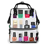 JUKIL Mochila de pañales Mossnike My Nail Polish Collection Fashion Diaper Bags Mummy Backpack Multi Functions Large Capacity Nappy Bag Nursing Bag for Baby Care for Traveling