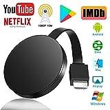 Adaptador de Pantalla Inalámbrico HDMI, Receptor de Pantalla Inalámbrico 1080P HD, Wireless Display Dongle Streaming para iOS/Android/ Windows, Compatible con Chromecast/DLNA/Airplay/Miracast
