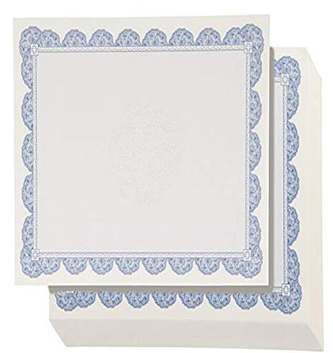 Best Paper Greetings los certificados de premio (96-count) - blank certificados de premios con la frontera azul - impresora láser y de inyección de tinta compatible - reino unido spec