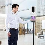 Kacsoo Dispensador automático de desinfectante de Manos y Kit de estación de Soporte de Piso Ajustable 1200ml Adecuado para Colocar en la Entrada de escuelas, hospitales y centros comerciales