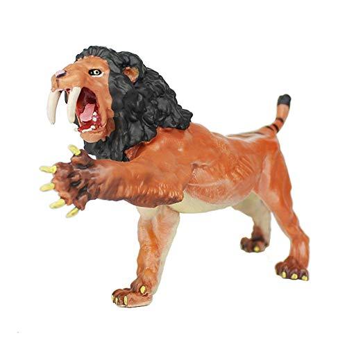 Waroomss Smilodon Figur, 6,5 Zoll Brüllende Smilodon Figur, Similation Tiger Wild Animal Spielzeug Figur Pädagogische Erkenntnis Spielzeug Für Kinder, Sammler Geschenk