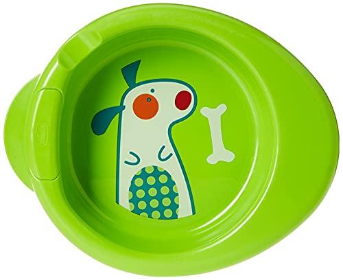 Chicco Piatto Pappa Calda per Bebè e Bambini, Piatto Termico per Pappa con Serbatoio Acqua Calda, Piattino Pappa Svezzamento con Base Antiscivolo e Design Ergonomico - 6+ Mesi, Verde