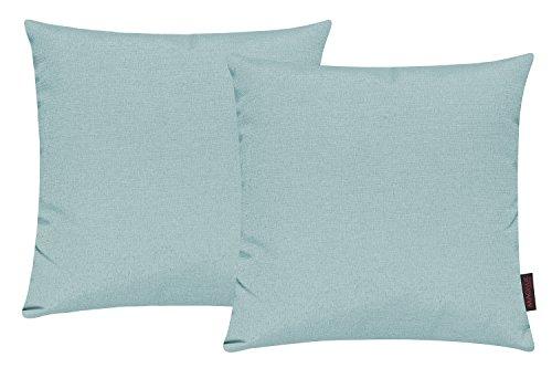 Fino Kissenhülle ca. 40 x 40 cm hochwertig & knitterarm Farbe 31 Mint (2er Set)