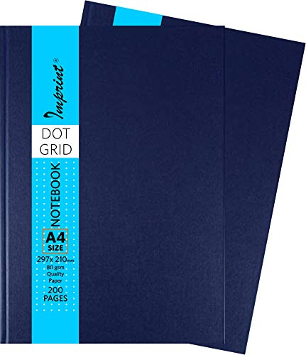 IMPRINT Notebook with Hard Cover Business Color Dot Grid A4 Size
