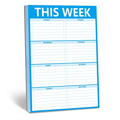 """90 Pages Weekly Planner List Note Pad to Do List with Magnet Mountings for Fridge Locker (6"""" x 9"""")"""