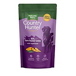 Healthy Tasty Immune System Pet food Natures Menu Country Hunter Dog Food Pouch Farm Reared Turkey 3 x (6 x 150g) Natures Menu Country Hunter Dog Food Pouch Farm Reared Turkey 3 x (6 x 150g)