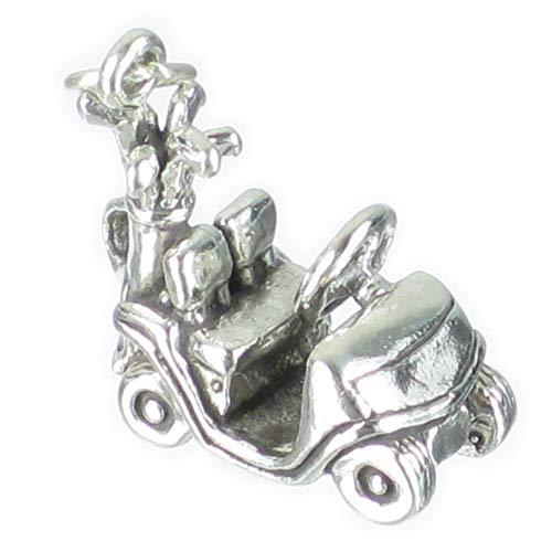 SFP Breloque en forme de chariot de golf en argent sterling 925