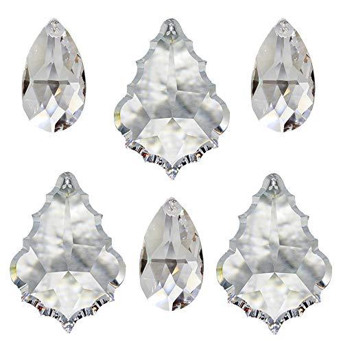 Kristall Sonnenfänger 6 Stück zum aufhängen als Fensterschmuck Raumpendel Waldorf Feng Shui u. Energie-Arbeit Regenbogen-Kristalle Kristallglas Mobiles Set-B