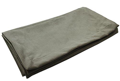 McAlister Textiles Camino de cama de terciopelo mate | 50 cm x 220 cm | Color gris plateado suave ropa de cama bufanda de lujo | 20 pulgadas x 220 cm