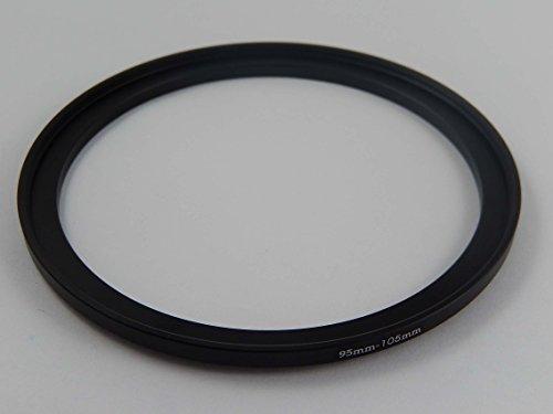 vhbw Adaptador de Filtro Step-UP Metal 95mm-105mm Negro para cámaras, Objetivos Tamron...