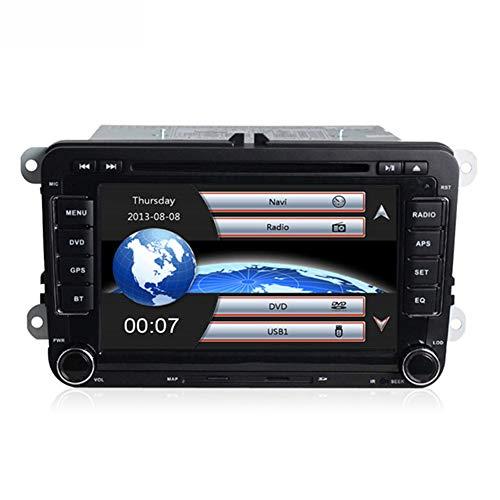 HARBERIDE Coche Navegación System, 7 Pulgadas 2 DIN Car DVD GPS Radio Reproductor Estéreo para Volkswagen Golf 6 Passat B6 B7 Touran Polo Tiguan Seat Leon Skoda Octavia