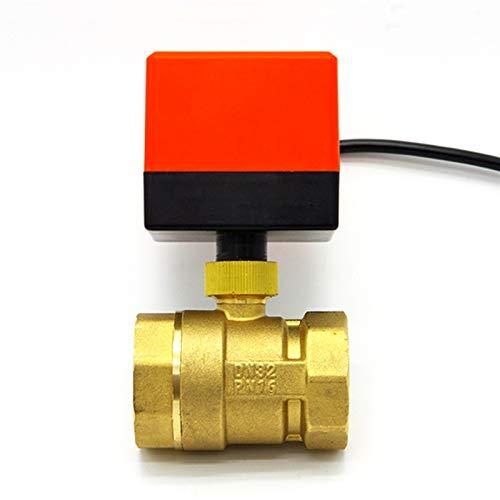 XIAOLUTIANM Válvula Válvula de Bola eléctrica, válvula de Bola motorizada de latón de 3 Cables Válvulas de Alivio de un Control de 3 Cables Accesorios Compatible with Conectores