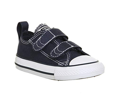 Converse Unisex-Kinder Chuck Taylor Ct 2v Ox Canvas Fitnessschuhe, Blau (Athletic Navy/White 412), 25 EU