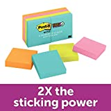 Post-it Super Sticky Notes, Bright Neons, Sticks and Resticks, 67% Plant-Based Adhesive by Weight, 1...