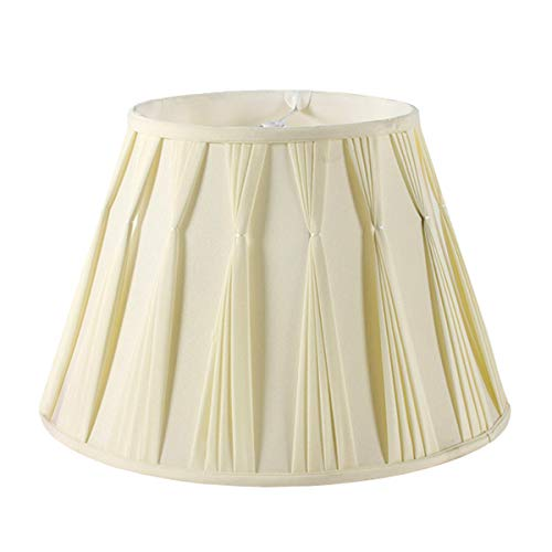 MYMAO Sombra de lámpara Plisada Lateral, Beige, 11x19.5x11.5in