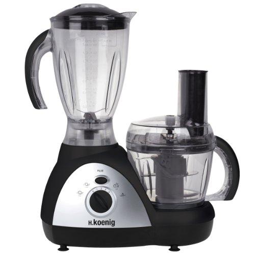 H.Koenig Genie 6-MX 16 Procesador de alimentos multifunción, 500 W, acero inoxidable, plástico,...