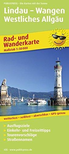 Lindau - Wangen - Westliches Allgäu: Rad- und Wanderkarte mit Ausflugszielen, Einkehr- & Freizeittipps, wetterfest, reissfest, abwischbar, GPS-genau. 1:50000 (Rad- und Wanderkarte / RuWK)