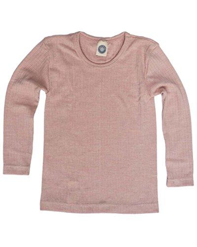 Cosilana, Kinder Unterhemd langarm, 45% kbA Baumwolle, 35% kbT Wolle, 20% Seide (104, Pink meliert)