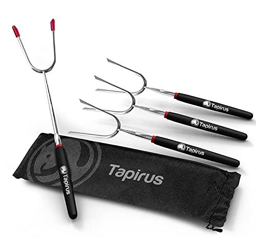 Tapirus Marshmallow Roasting Sticks | Set of 4 Extra Long Extendable...