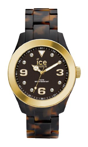 Ice-Watch - ICE elegant Tortoise Gold - Women's wristwatch with plaastic strap - 000686 (Medium)