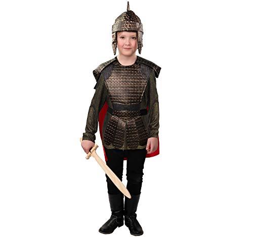 Römischer Soldat (Cape mit Schulterschutz, Shirt, Brustschutz, Helm)