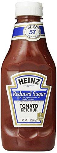 Heinz Tomato Ketchup, Reduced Sugar, Bottle, 13 oz