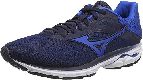 Mizuno Men's Wave Rider 23 Running Shoes, Blue (Navy Blazer/Skydiver/Wht 28), 9.5...