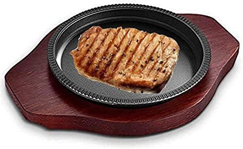 JINCAN Opening large release sale 2-piece set Grill Pan cast National uniform free shipping pan steak iron frying pizza
