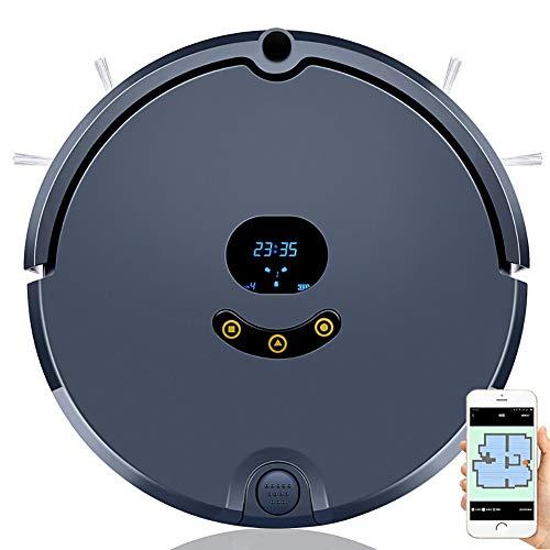 Light Saugroboter, Dirt Detect Technologie, Reinigungsprogrammierung per App, Staubsauger Roboter, ideal für Tierhaare, Teppiche und Hartböden,A
