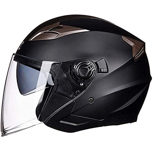 Casco De Motocicleta Con Visera, Adecuado Para Ciclomotores, Scooters, Cruceros, Pase La Prueba De Colisión Para Cumplir Con La Seguridad Vial I,M