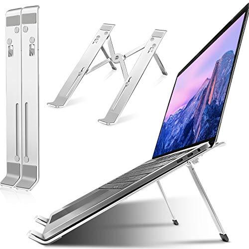Adjustable Laptop Stand, Ergonomic Portable Laptops Elevator, Ventilated Foldable Anti-Slip Notebook Riser Holder, Aluminum Computer Stand for MacBook Air Pro, Dell XPS, Lenovo, 10-15.6' Laptops