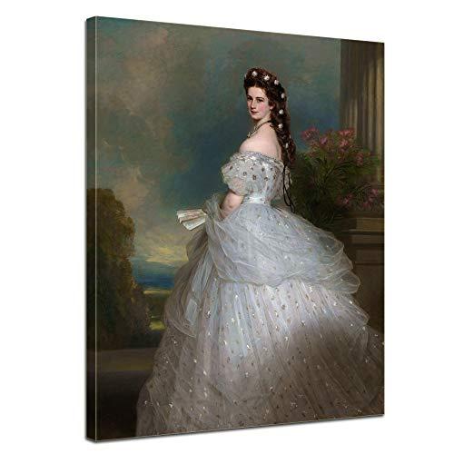 Wandbild Sisi Elisabeth von Österreich-Ungarn - 30x40cm hochkant - Leinwandbild Kunstdruck Bild auf Leinwand Gemälde - Berühmtheiten & Zeitgeschichte