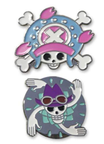 One Piece Chopper And Robin Skull Pin Set Anime Enamel Pin