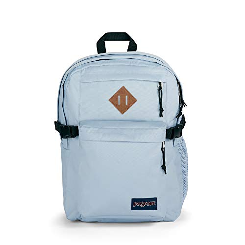 JanSport Main Campus Student Backpack - School, Travel, or Work Bookbag w 15-Inch Laptop Sleeve and Dual Water Bottle Pockets, Blue Dusk