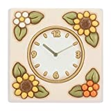 THUN - Orologio da Parete Quadrato Decorato con Girasoli -...
