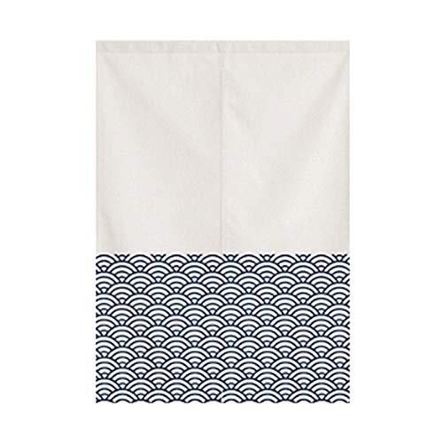 fgdsa Japanische Noren Vorhang,Japanische Stil Küche Badezimmer Feng Shui Tür Vorhang, Türvorhang K 60x90cm...