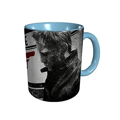 jianpanxia James Bond 007 Filme Neuartige Keramik-Kaffeetassen, hitzebeständiger klassischer gebogener Tassengriff Kaffeetasse Geschenk für Familie, Freunde und Liebhaber.