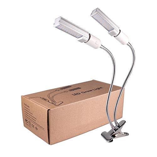 XECCON LED Pflanzenlampe 45W, 88 LEDs Grow Lampe Vollspektrum Pflanzenlicht mit Automatische Zeitschaltuhr, 3 Timer 3H/6H/12H, Dimmbar 5 Lichtstärken für Zimmerpflanzen,Hydrokultur, Gewächshäuser usw