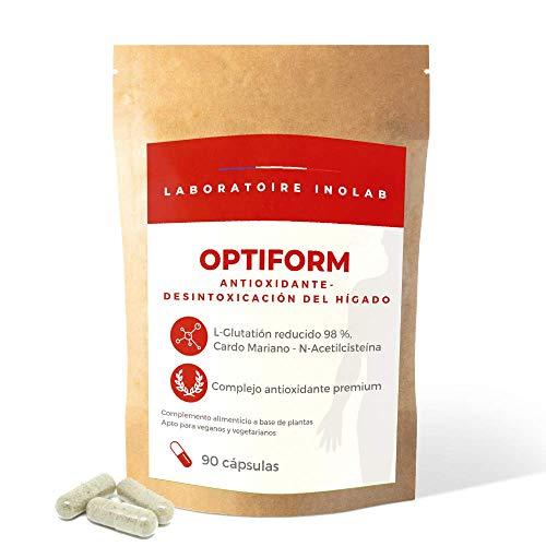 L-GLUTATIÓN reducido al 98% 400mg + Precursores Glutatión (Cardo Mariano, N-Acetyl L Cisteína, Acerola orgánica) | Antioxidante, Antienvejecimiento, blanqueo de la piel