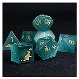 XUEFENG Dice DND Polyhedral RPG Juego de Dados para Mazmorras y Dragones, Pathfinder, D&D, Juego de...