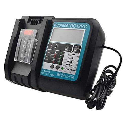 Cargador TPDL 3A 14,4 V-18 V Reemplazo DC18RC DC18RA para Makita BL1860 BL1850 BL1840 BL1830 BL1430 Cargador de batería Li-ion con Pantalla LED Puerto USB