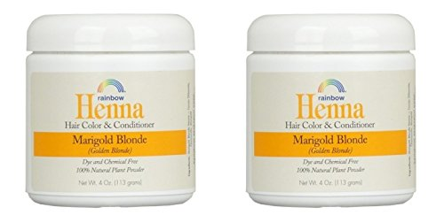 Rainbow Research Henna Marigold Blonde Hair Color and Conditioner (Pack of 2) With Marigold Flowers and Chamomile, 4 oz. each.