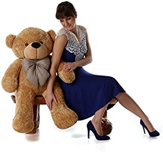 Giant Teddy Brand - 38 Inch Super Soft and Plush Cute Teddy Bear with Premium Long Fur (Amber Brown)