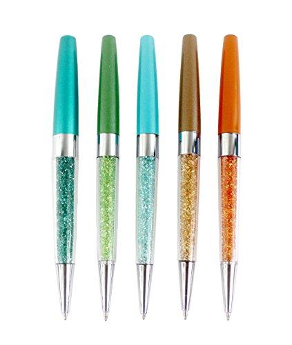 Gullor 5pcs bling bling silm Kristalldiamant versenkbare Kugelschreiber - Art c