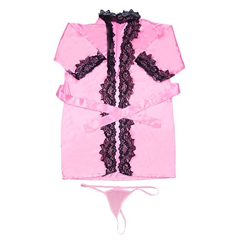 Greatangle Albornoces de Mujer con decoración de Encaje Sexual, Albornoz de Encaje para Cosplay