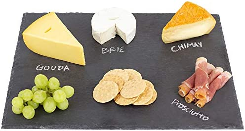 Home Basics Black Modern Slate Cheese Platter Tray 12 x 16 Cutting Board product image