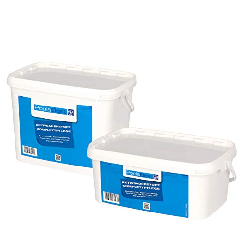 POOLSBEST® 4,48 kg Aktivsauerstoff für Pool - 8 Doppelbeutel mit chlorfreien Granulat - Desinfektion ohne Chlor sorgt für geruchlose Wasserqualität