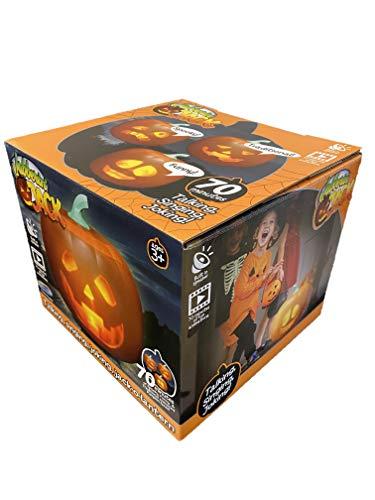 The Original Mindscope Jabberin Jack Talking Animated Pumpkin with Built in Projector & Speaker Plug'n Play