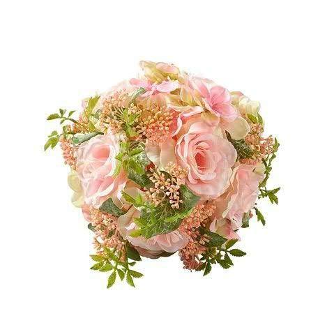 Rosendekoration - Tischdeko/Tischschmuck Hochzeit - Zeitlose Dekoration - Hochzeitsdeko - Hochwertig & Dekorativ (Rosenkugel - Ø 19cm - Rosa)