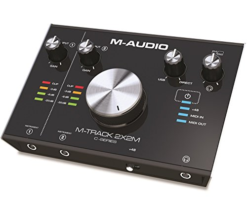 M-Audio M-Track 2x2M - Interfaz de audio y MIDI USB con 2 entradas y 2 salidas, audio a 24 bits y 192 kHz, con ProTools | First, Ableton Live Lite y paquete de software de AIR Music Tech incluido